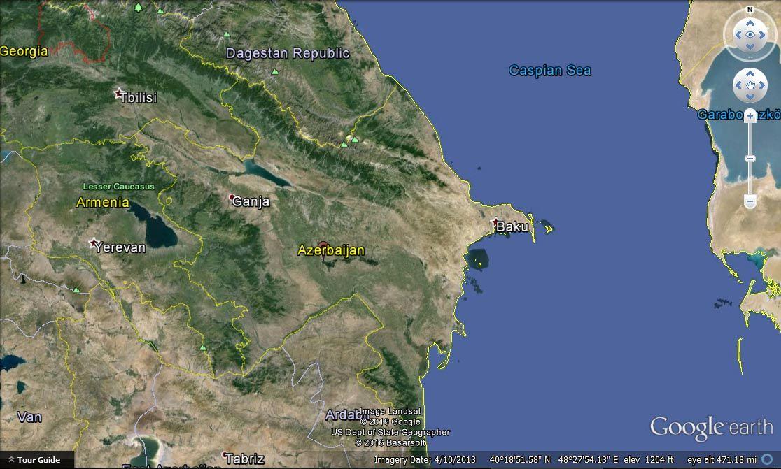 Azerbaijan satellite image countries map pinterest azerbaijan satellite image gumiabroncs Gallery