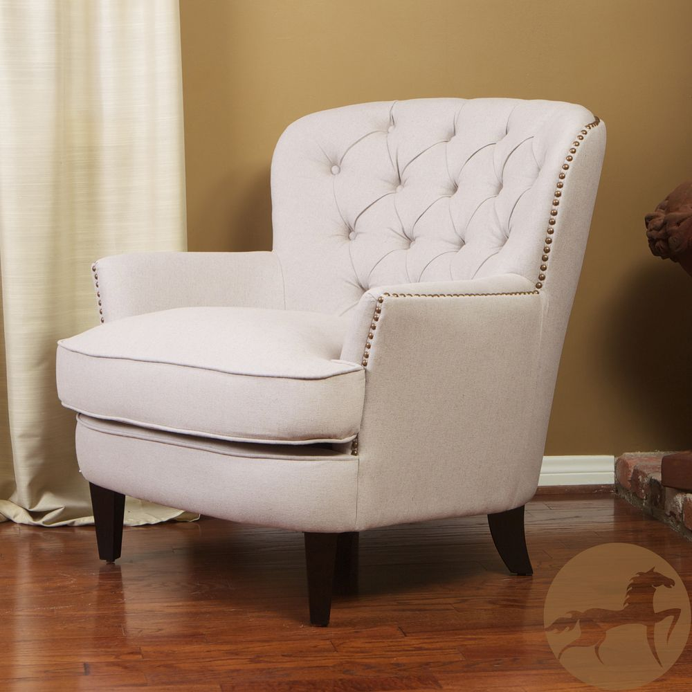 Christopher Knight Home Tafton Tufted Fabric Club Chair | Overstock.com  Shopping   Great Deals