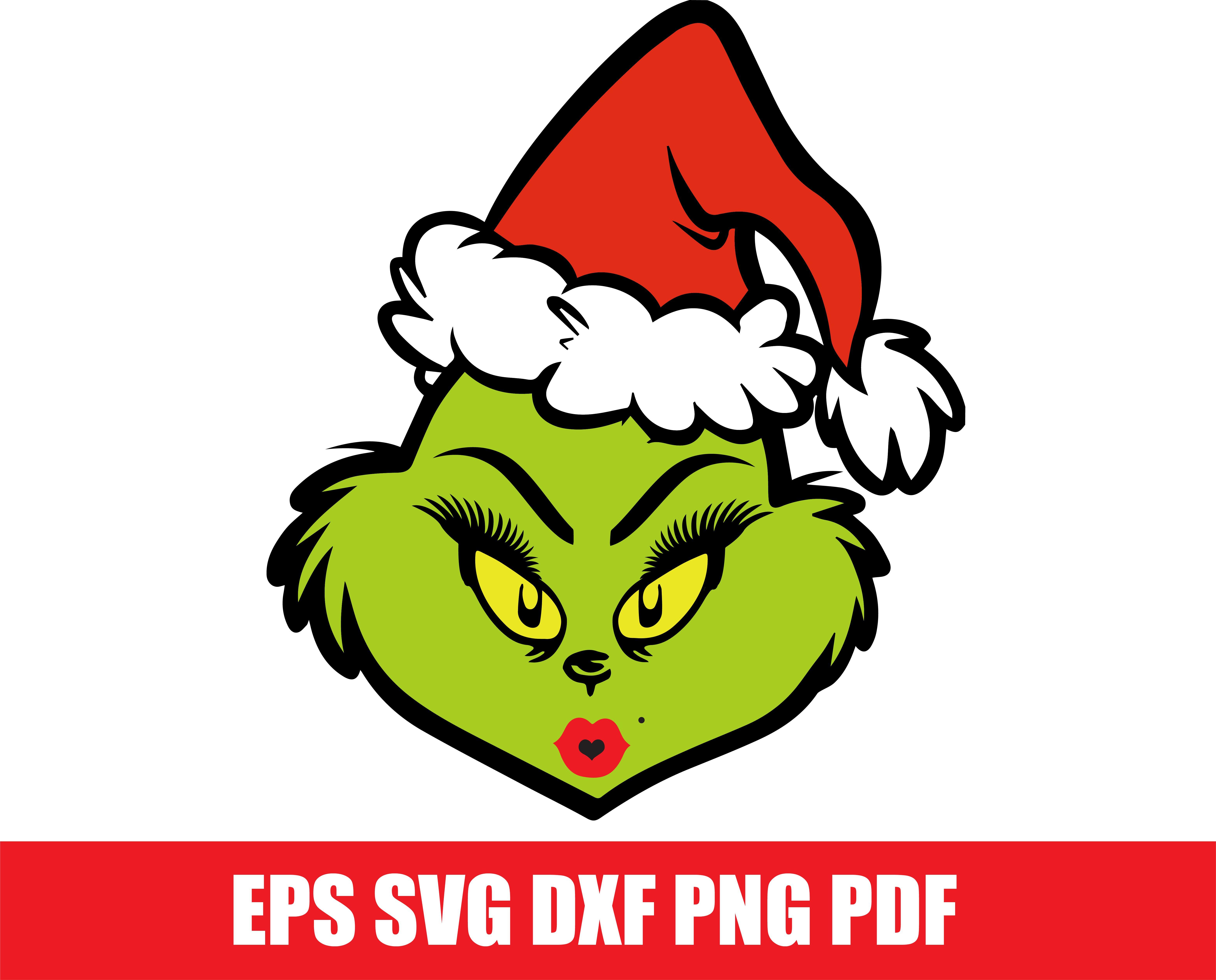 Grinch Svg Mrs Grinch Face Svg Christmas Svg Grinch Smile Svg Grinch Png Cricut Designs Silhouette Svg Sublimation Designs Downloads Grinch Face Svg Scrapbook Designs Grinch