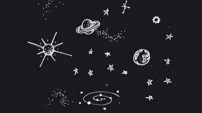 Black Grunge Vintage Hipster Theme Dark Wolf Scary Planets Space Galaxy Drawings Planet Drawing Black And White Doodle