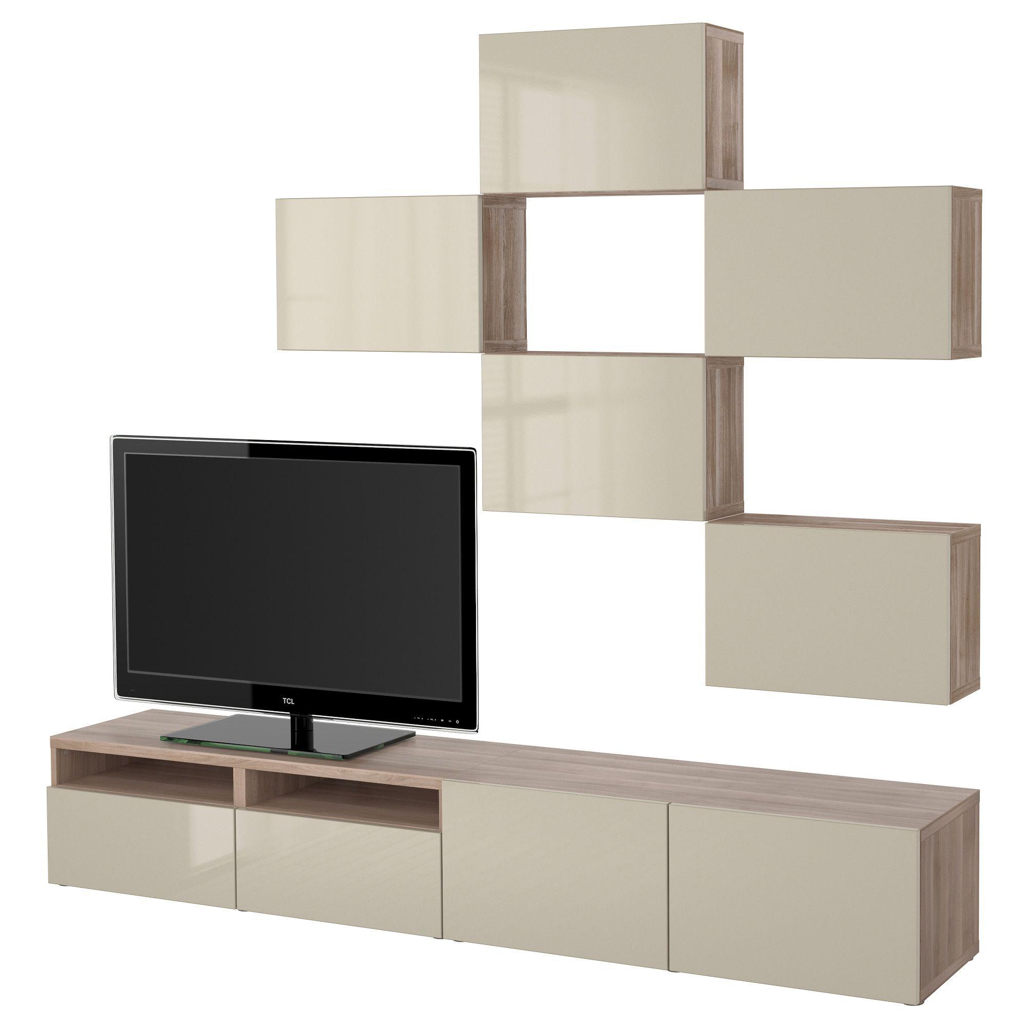 bestÅ, tv-möbel, kombination, grau las. nussbaumnachb., jetzt, Wohnzimmer