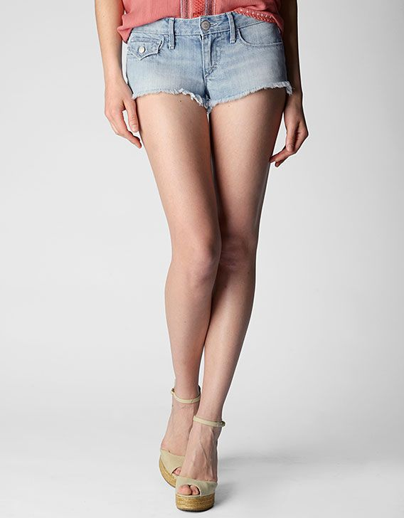 True Religion Brand Jeans, Joey Low Rise Denim Cut Off Womens Short, axal breezy meadow, Womens : Shorts