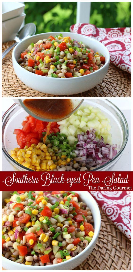 Southern Black-eyed Pea Salad (or salsa).  daringgourmet.com