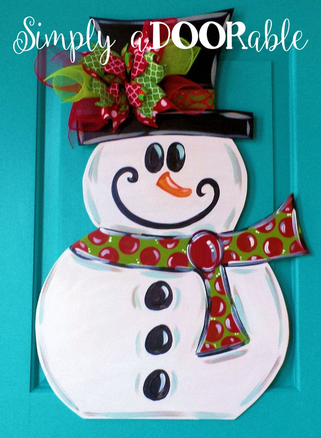 Snowman Wood Door Hanger By Simply Adoorable Frosty Door Hanger