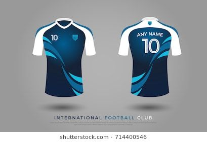 Download Soccer T Shirt Design Uniform Set Of Soccer Kit Football Jersey Template For Football Club Blue And Sports Tshirt Designs Soccer Tshirt Designs Soccer Shirts