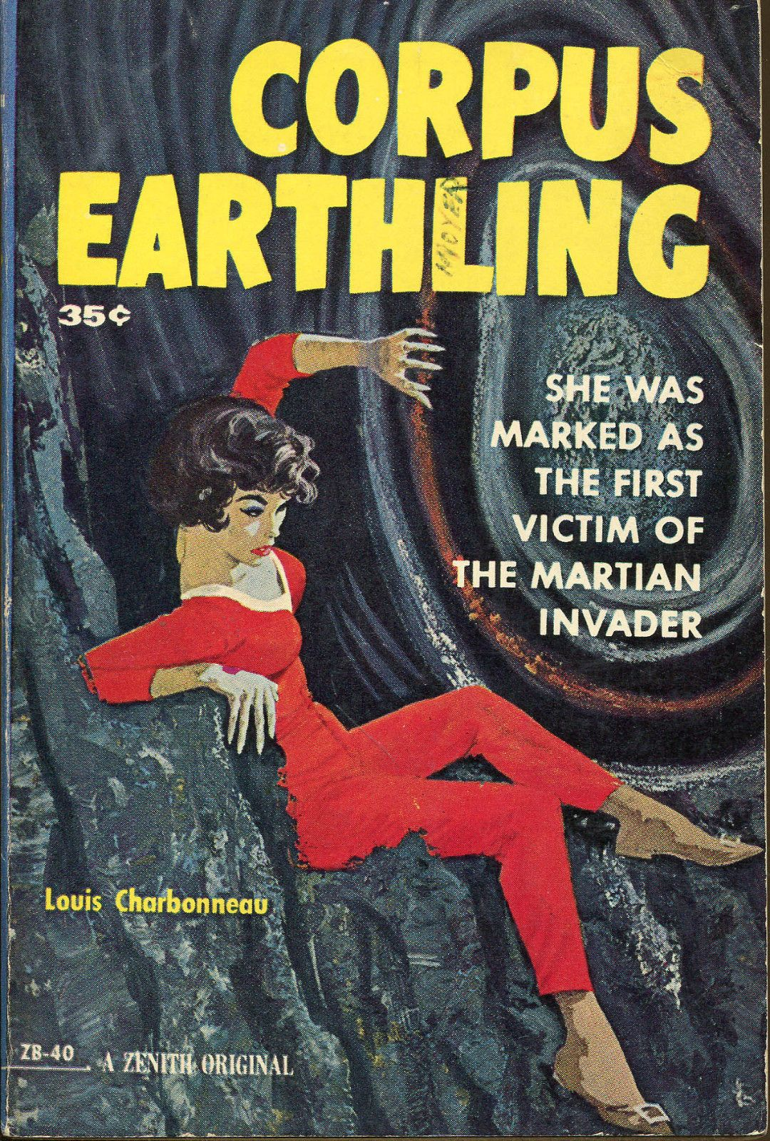 Corpus Earthling Zenith Books 1960 Pulp Cover Art Vintage Book Covers Canvas Giclee Pulp Science Fiction