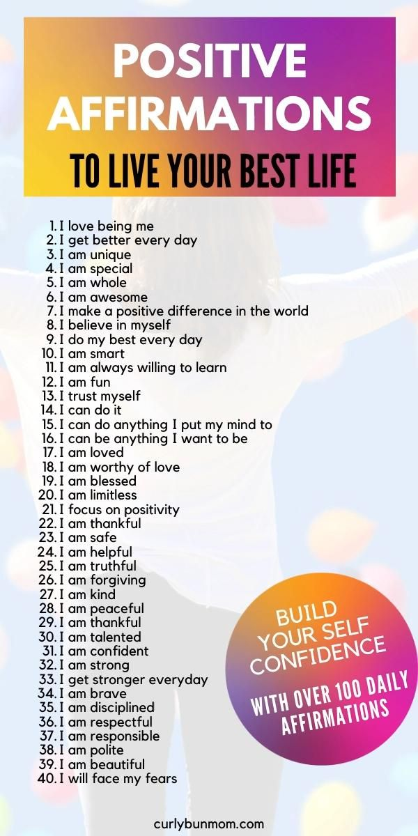Positive Affirmations For Kids & Adults