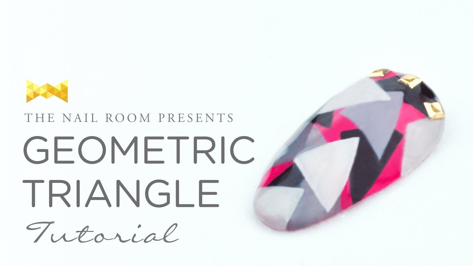 Geometric Triangle Nail Art - Japanese Nail Art Tutorial [HD] | Nail ...