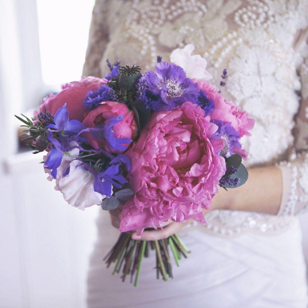 Purple and blue wedding decor  my bouquet   Jardins u Gardens  Pinterest  Flowers
