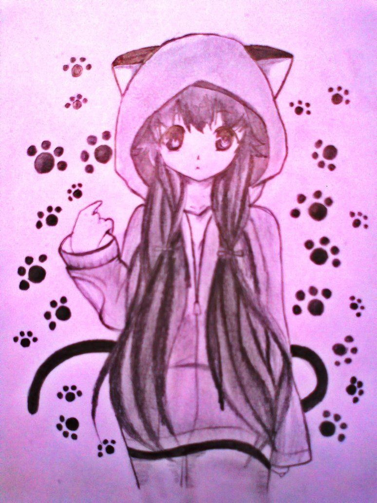 Cute anime cute anime cat girl by xinje anime - Anime kitty girl ...