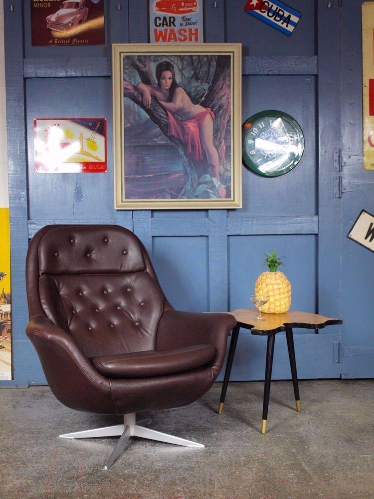 Vintage Mid Century 1960s 70s Swivel Egg Chair Parker Knoll G Plan Danish  Retro