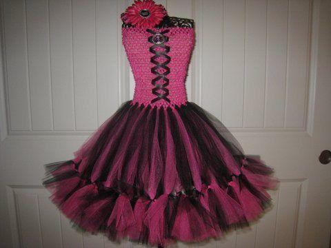 Monster High Draculaura Inspired Petti Tutu Dress By Monkeytutus 33 00 Vestidos De Nenas Tutus Vestido De Fiesta