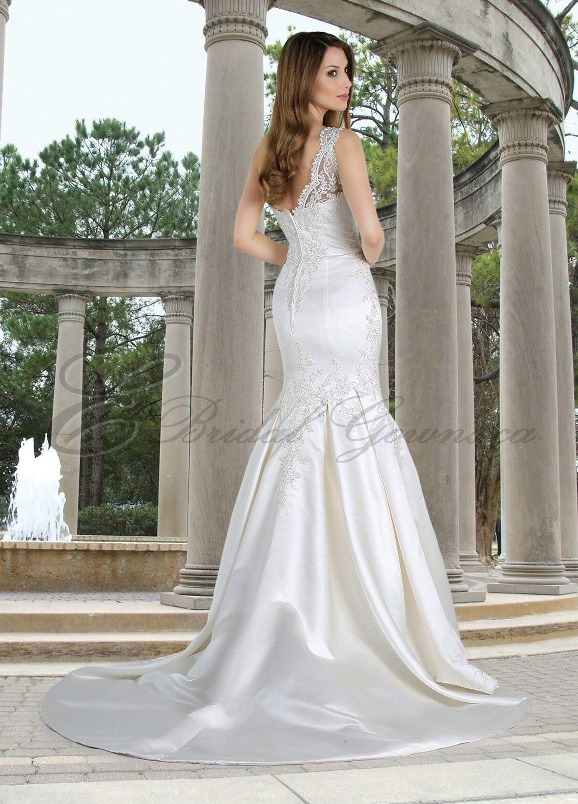 Mermaid Wedding Gowns  Satin OneShoulder Mermaid Wedding Dress