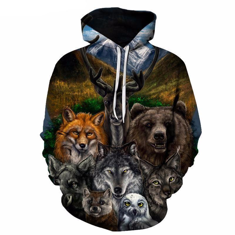 Want Hoodies Wolf Owl 3d Things I – Bear Fox To 8S7qwnnv