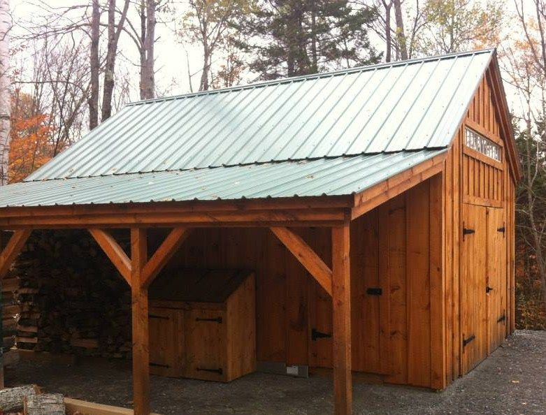 One Bay Garage Build a shed kit, Shed plans, Shed