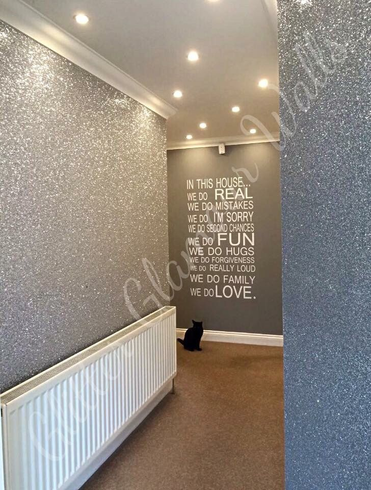 Silver glamour range glitter wallcovering Home decor, Home
