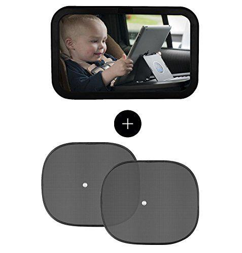 Espejo retrovisor bebe espejo coche bebe y parasol coche - Espejo coche bebe amazon ...