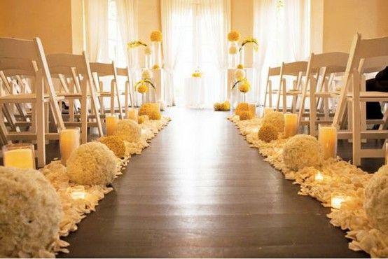Hydrangea balls very sophiticated aisle florals wedding musts indoor wedding junglespirit Image collections