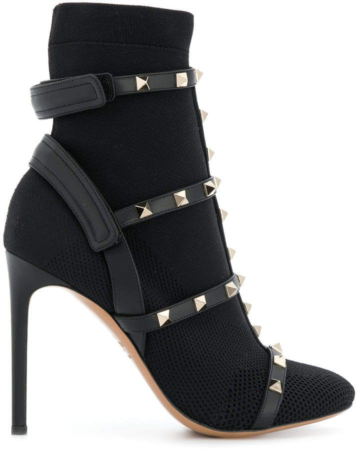f3e0982bdc24 Valentino studded boots. Valentino studded boots Black Leather Ankle ...