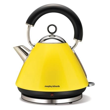 Morphy Richards 43827 Yellow Accents Kettle Dunelm Students