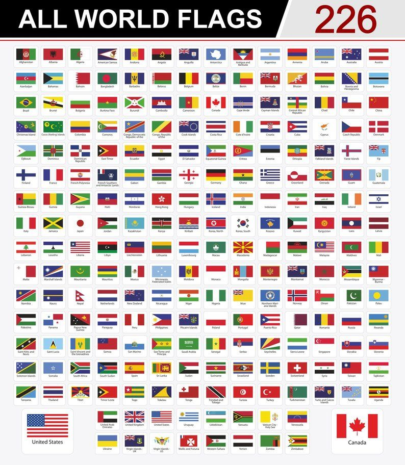 World Flags Geography International Flags Countries Etsy All World Flags Flags Of The World World Flags With Names