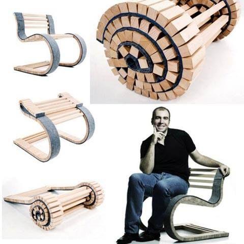 #gadgets #regalos #originales #inventos #divertidos #curiosos #decoración #hogar #diseño #silla  Una silla plegable súper COOL... http://www.yougamebay.com