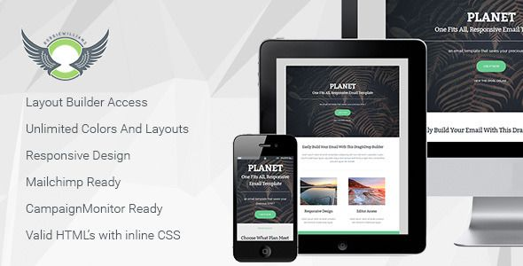 Planet Responsive Email Template With Builder Responsive Email - Free email template editor