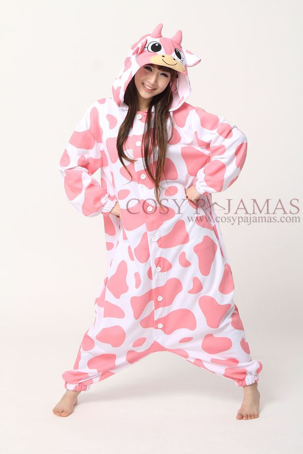 Pink Smile Cow Onesie! I would never take this off!  56e4db999
