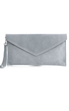 quite nice really cheap get online Light Grey Suede Envelope Clutch Bag By Pretty Lavish | Bags ...