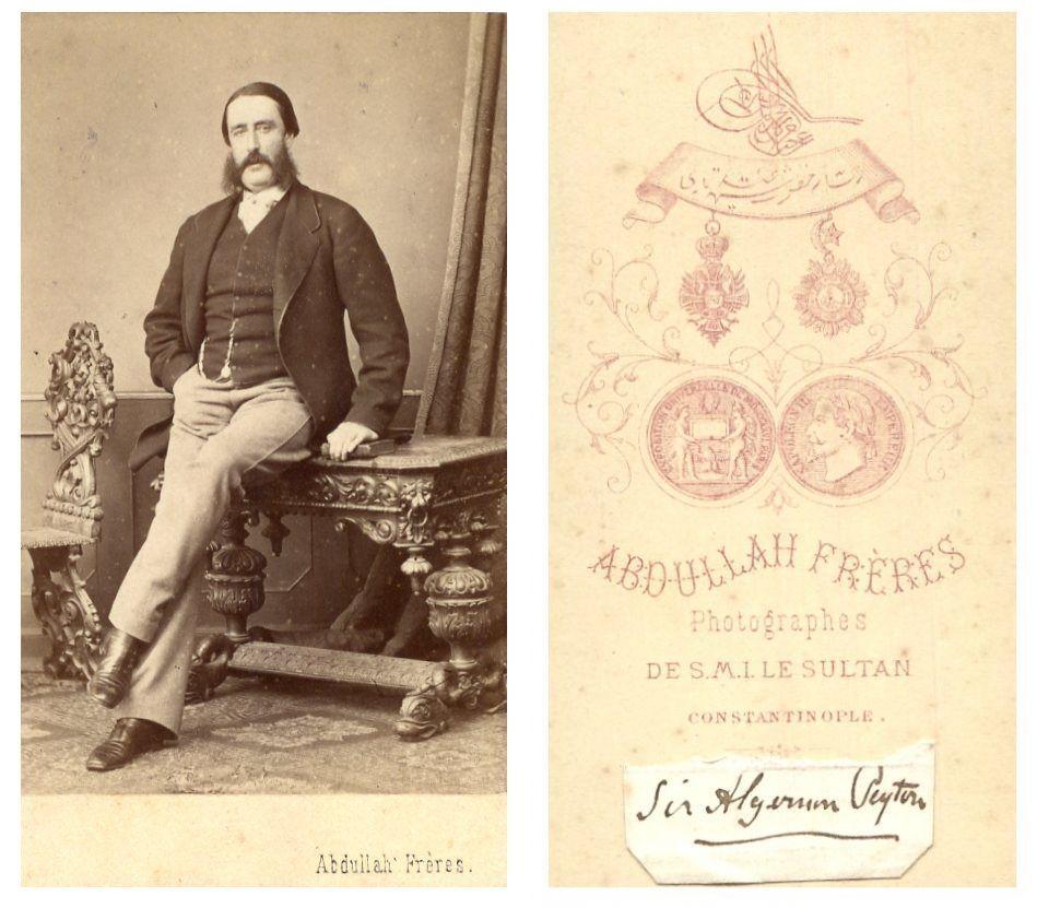 Abdullah Frres Constantinople CDV Vintage Albumen Carte De Visite Tirage Alb