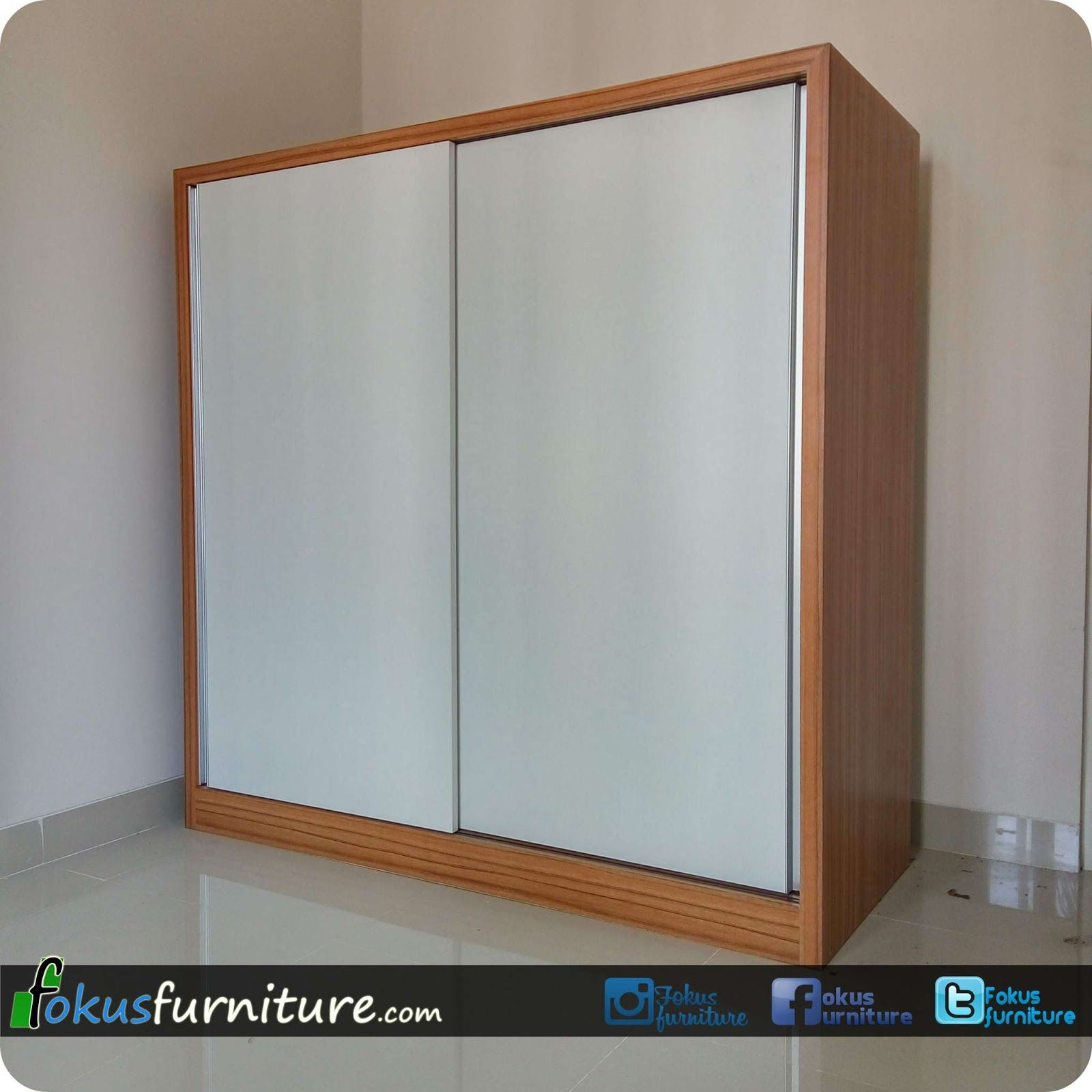 Lemari 2 pintu geser sleding | Fokusfurniture.com kitchen set,lemari ...