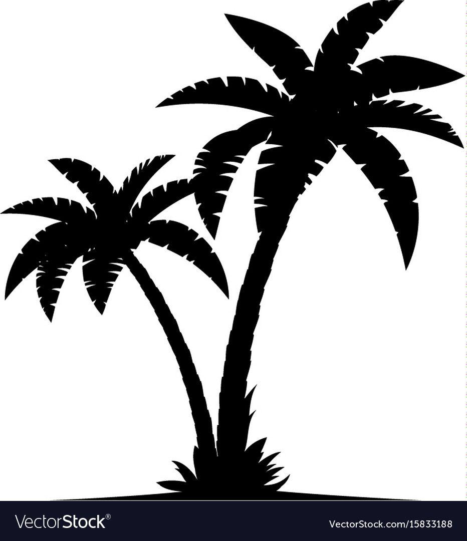 Pin By Diane Ulitsch On Cricut Palm Tree Silhouette Tree Silhouette Palm Tree Vector