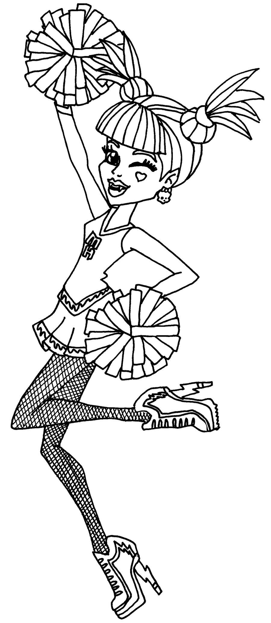 monster high coloring pages toralei toralei stripe 2 by elfkena