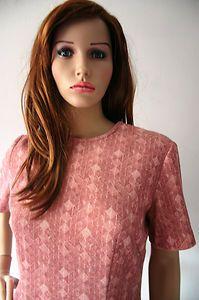 Vintage 1970s Terracotta Diamond Pattern Tunic Dress Size 14   eBay