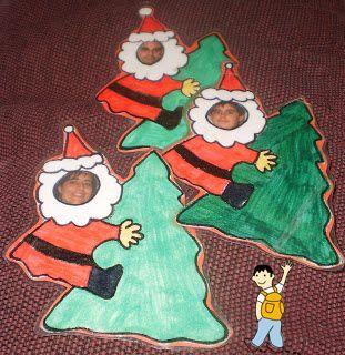 Manualidad de navidad con foto personalizada navidad for Manualidades navidenas preescolar