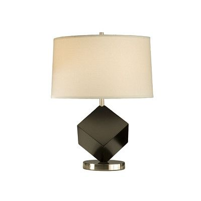 "Nova Cubes Reclining 22"" H Table Lamp with Empire Shade"