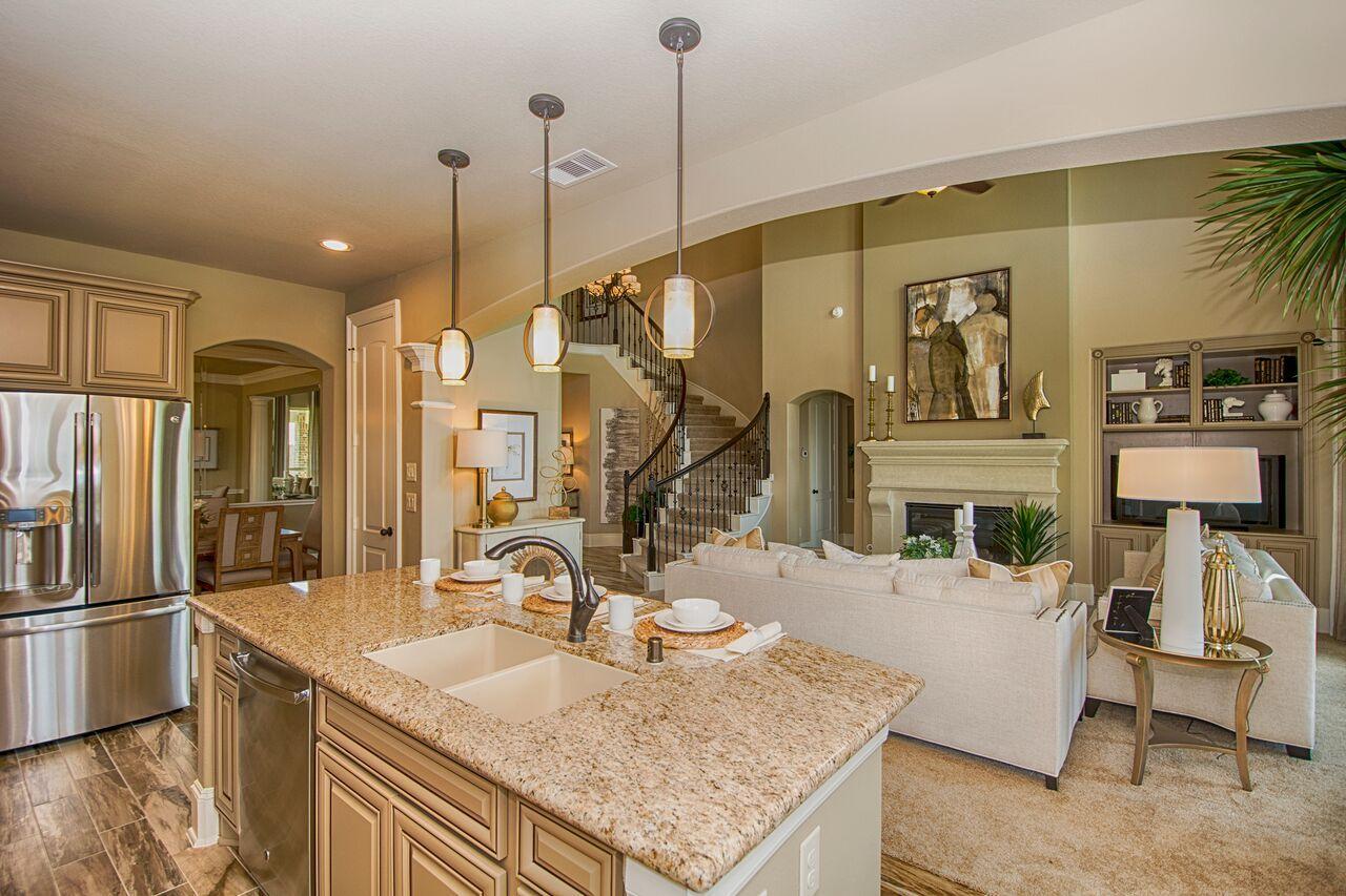 Westin Homes   Houston Home Builder   The Preston Floorplan   Gourmet  Kitchen   Kitchen Island