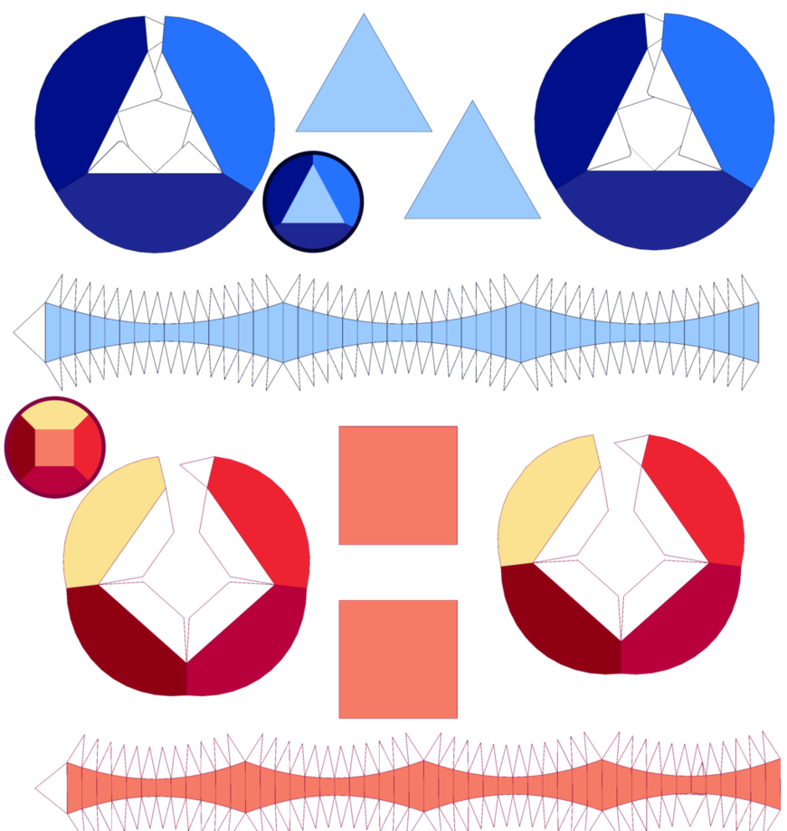 this is a template to bulit ruby and sapphire gems papercrafts from