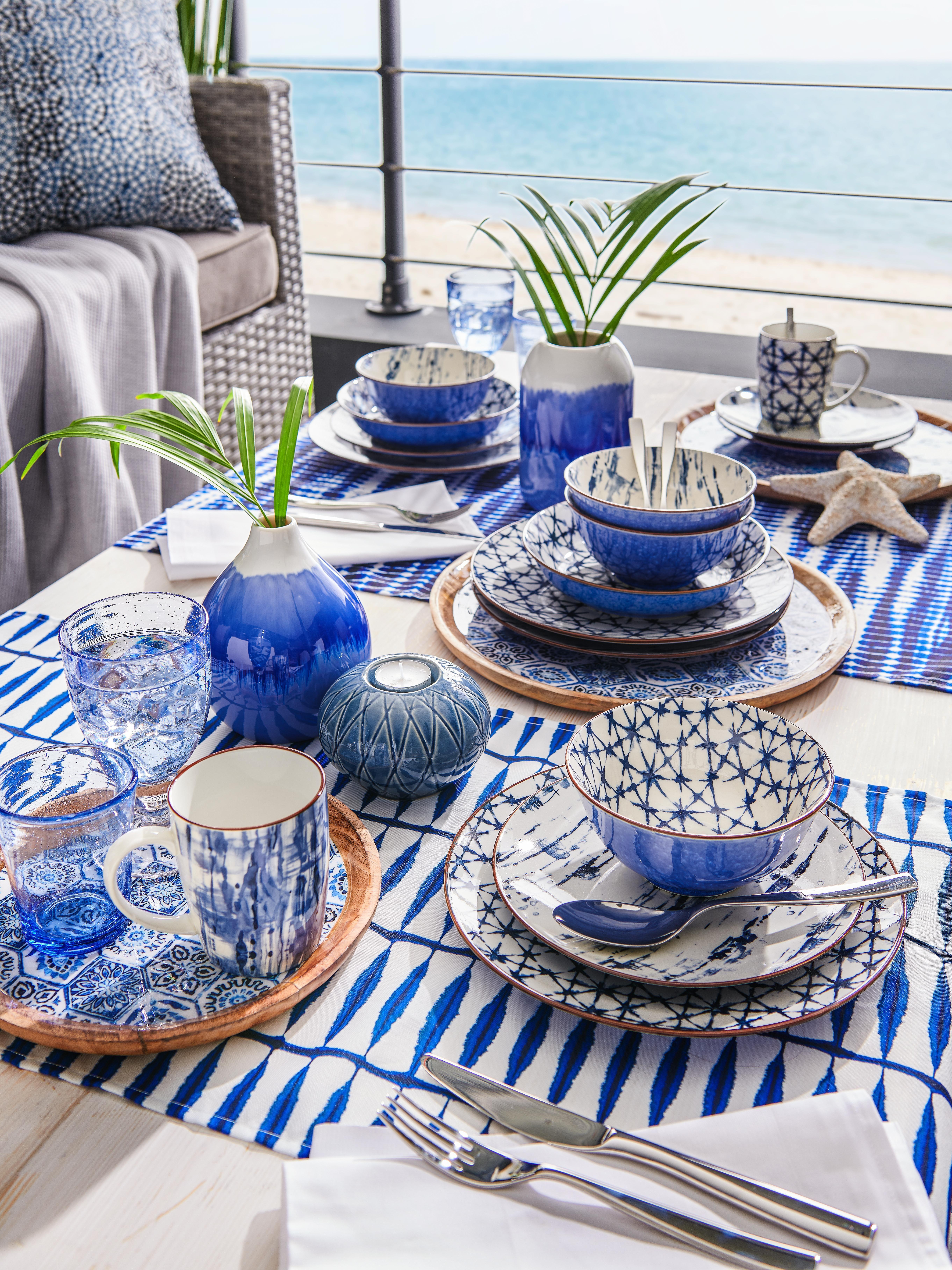 Kombiservice 30 Teilig In 2020 Blau Muster Kombiservice Und Blaues Geschirr