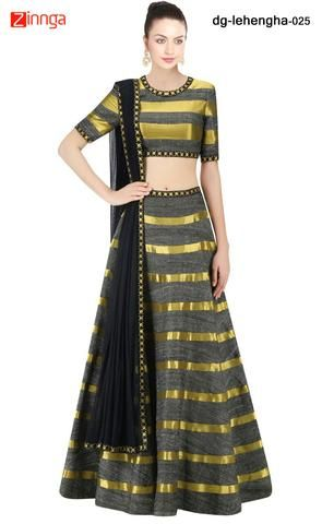 NAV DURGA-Women's Attractive  Multi Color Banglori Silk Lehenga