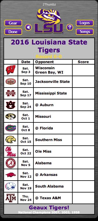 BACK OF MAC APP 2016 LSU Tigers Football Schedule App