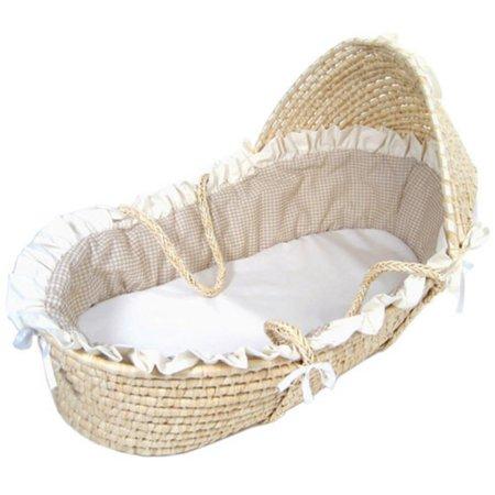 Badger Basket Hooded Moses Basket Crib w// Bedding Baby Nursery Furniture New