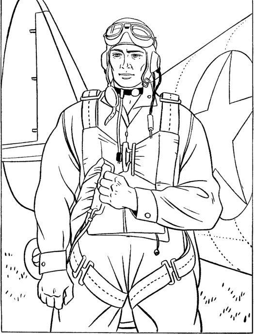 Army Pilots Veterans Coloring Pages
