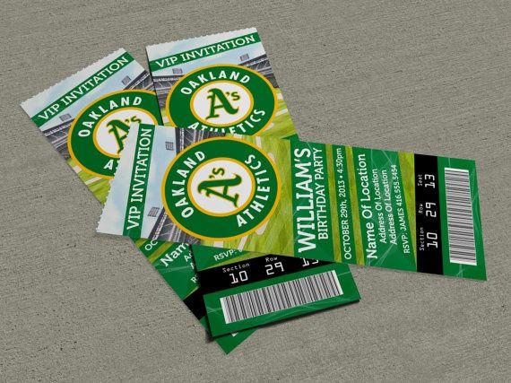 Oakland Athletics Au0027s Birthday Party Event Ticket Invitation (25 - event ticket ideas