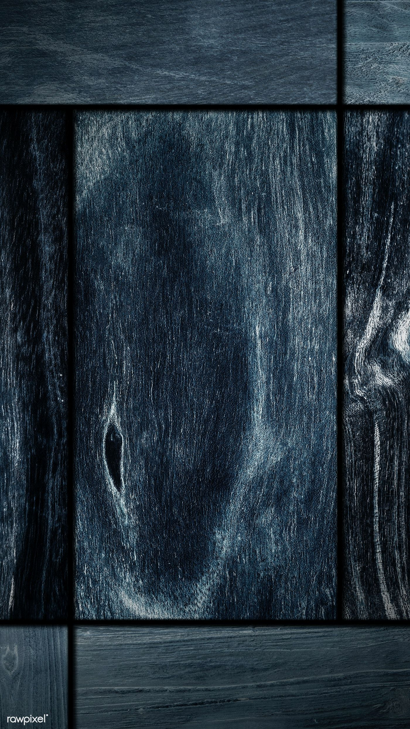 Download free image of Blue wood textured mobile wallpaper background