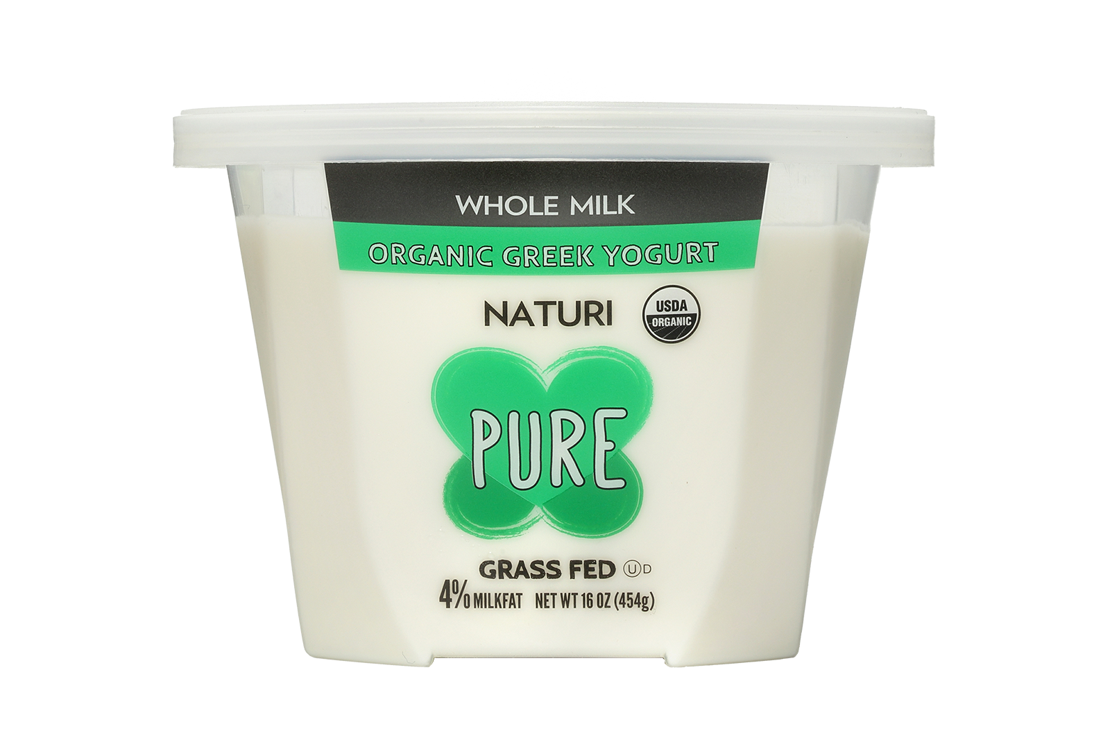 Naturi Whole Milk Pure 16oz Organic Greek Yogurt Pure Products Yogurt