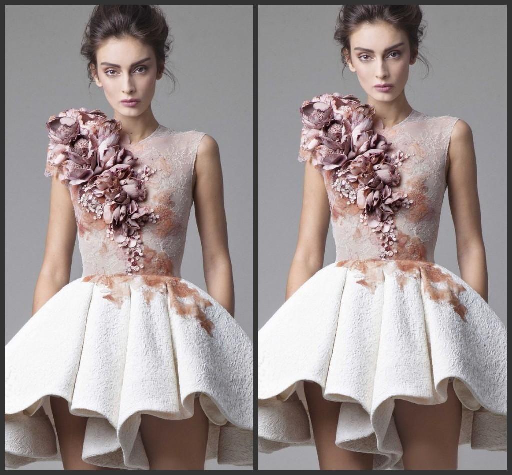 Mini dress cheap party dresses handmade flowers beautiful