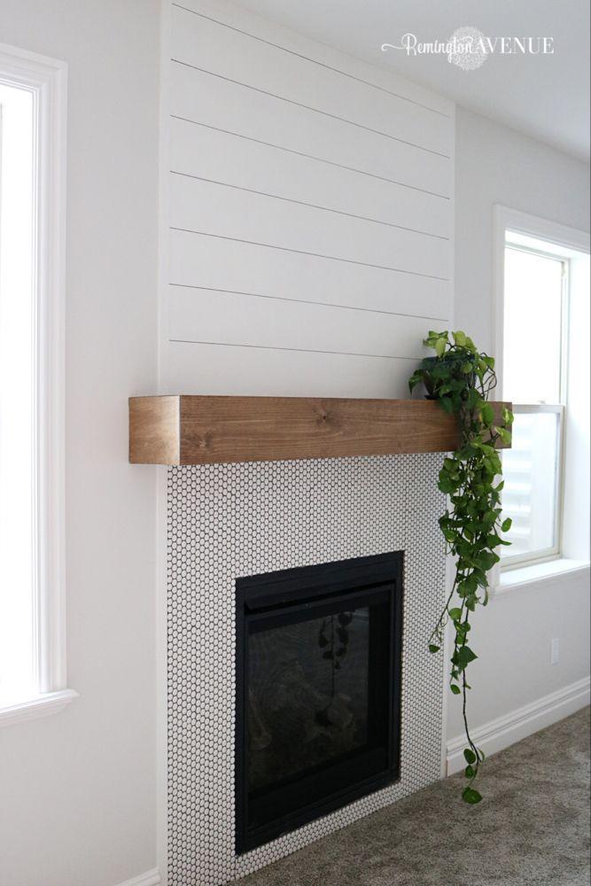 easy diy wood mantel | diy fireplace, diy fireplace mantel, home fireplace