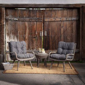 Belham Living Rio All Weather Wicker Chat Set Image