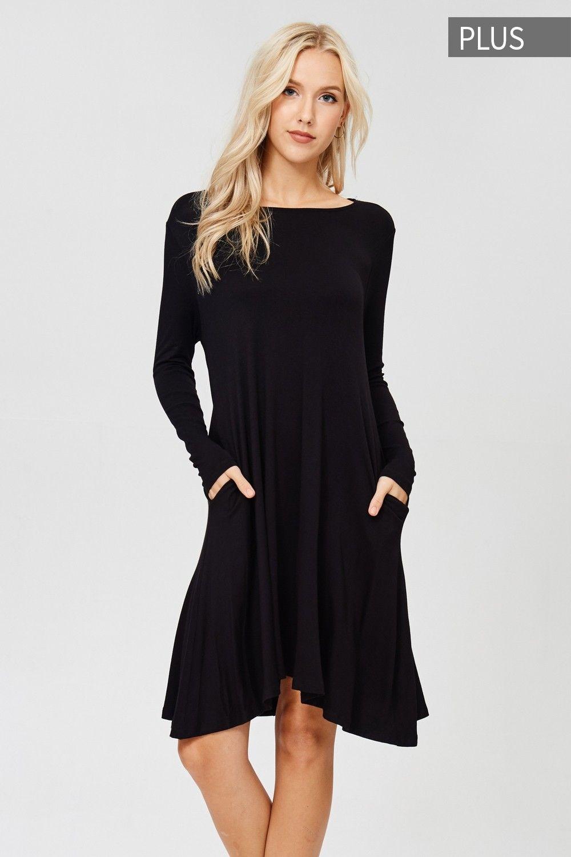 6b9cea61c7a Plus Size Long Sleeve Midi Dress Style  D5239P  PRE-ORDER Plus size knit  dress featuring solid